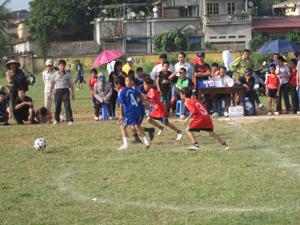 Các đội trường TH tham gia thi đấu tại giải.